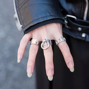 Adjustable Silver Toned Slave Ring